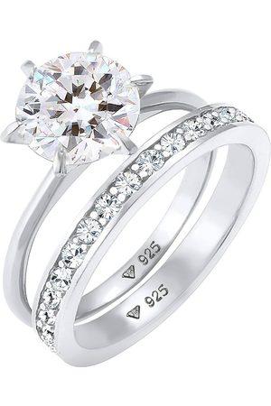 Elli Ring Eternity Kristalle Set 925 in , Schmuck für Damen