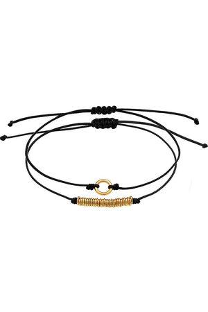 Elli Armband 2er Set Kreis Nylon Must-Have 925 Sterling Silber in , Schmuck für Damen