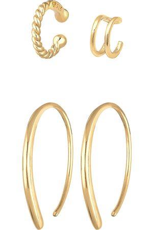 Elli Ohrringe Basic Set Creolen Earcuff Blogger Trend 925 Silber in , Schmuck für Damen