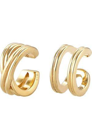 Elli Ohrringe Basic Set Earcuff Klemme Minimal Geo 925 Silber in , Schmuck für Damen