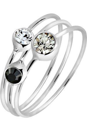Elli Ring Set Stacking Zart Kristalle 925 Silber in , Schmuck für Damen