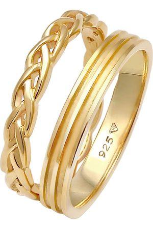 Elli Ring Bandring Basic Zopf Knoten 2er Set 925 Silber in , Schmuck für Damen