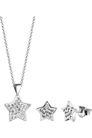 Nenalina Schmuckset Kette Stecker Sterne Kristalle in , Schmuck für Damen