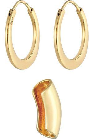 Elli Ohrringe Creolen Earcuff Basic Look Set 925 Silber in , Schmuck für Damen