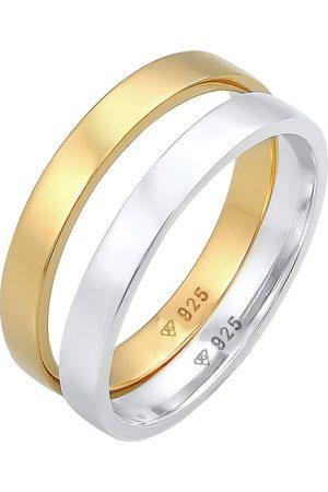 Elli Ring Bandring Basic Bi-Color 2er Set 925 in , Schmuck für Damen
