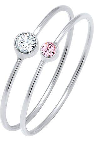 Elli Ring Set Basic Trend Kristalle 925 Silber in , Schmuck für Damen