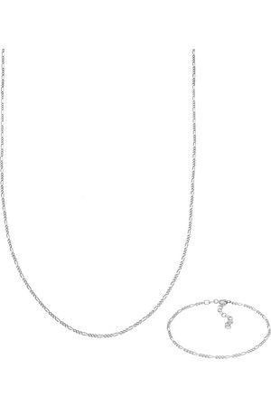 Elli Schmuckset Figaro Halskette Armband Basic 925 in , Schmuck für Damen