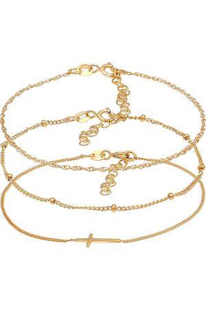 Elli Armband Gedreht Kugel Kreuz Design 3er Set 925 Silber in , Schmuck für Damen