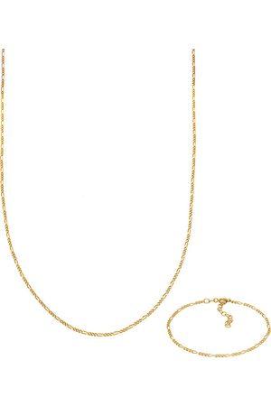 Elli Schmuckset Figaro Halskette Armband Basic 925 Silber in , Schmuck für Damen