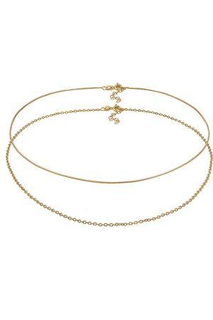 Elli Halskette Choker Set Basic Schlangen Ankerkette 925 Silber in , Schmuck für Damen