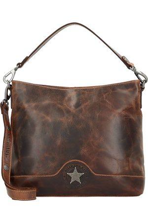 Billy The Kid Damen Handtaschen - Ranger Handtasche Leder 34 Cm in mittelbraun, Henkeltaschen für Damen