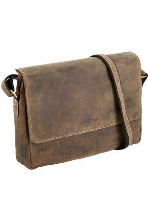 Greenburry Vintage Aktentasche Leder 34 Cm in mittelbraun, Businesstaschen für Herren