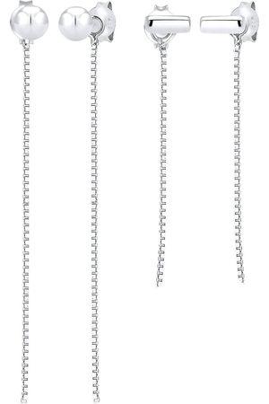 Elli Ohrringe 2er Set Ohrhänger Ear Chains Venezianer 925 in , Schmuck für Damen
