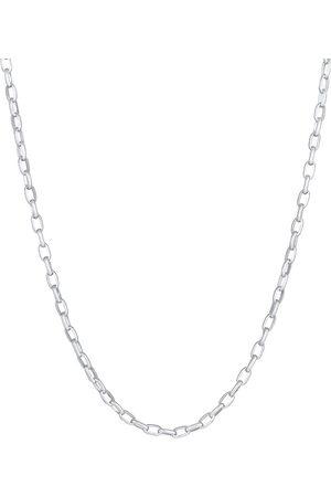 Kuzzoi Halskette Herren Rundanker Oval Basic 925 in , für Herren