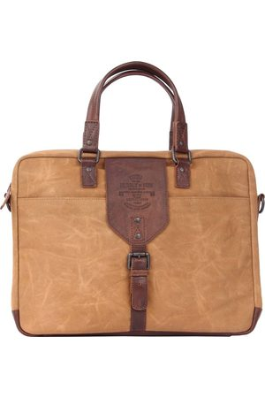 PRESLY & SUN Notebooktasche Caelen Mit Stylishen Lederdetails in , Businesstaschen für Herren