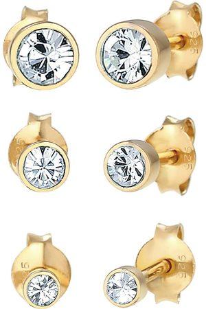 Elli Ohrringe Stecker Set Kristalle Basic 925 Silber in , Schmuck für Damen
