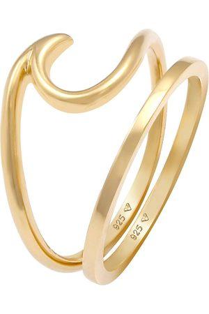 Elli Ring 2er Set Wave Welle Bandring Basic 925 Silber in , Schmuck für Damen