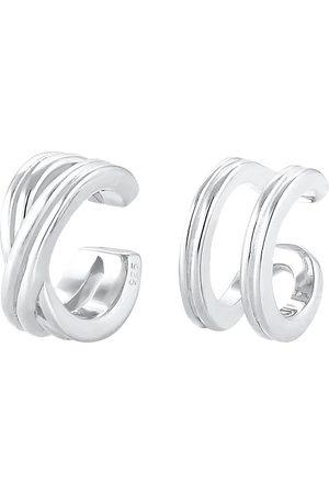 Elli Damen Ohrringe - Ohrringe Basic Set Earcuff Klemme Minimal Geo 925 in , Schmuck für Damen