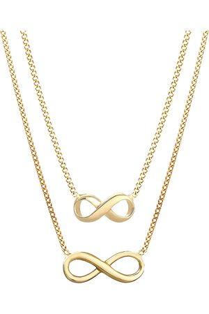 Elli Damen Halsketten - Halskette Infinity Mutter Tochter 2er Set 925 Silber in , Schmuck für Damen