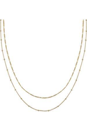Elli Damen Halsketten - Halskette Basic 2er Set Kugelkette Figarokette 925 Silber in , Schmuck für Damen