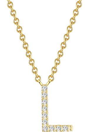 Soul Club Damen Halsketten - Halskette Buchstabe L in , Schmuck für Damen