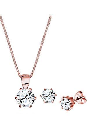 Elli Schmuckset Basic Kristalle Silber in , Schmuck für Damen