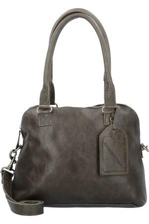 Cowboysbag Bag Carfin Schultertasche Leder 36 Cm in mittelgrün, Schultertaschen für Damen