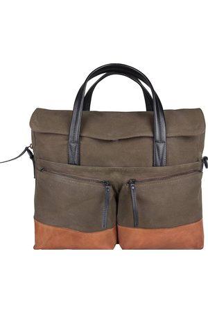 PRESLY & SUN Laptoptasche Diel Mit Stylishen Lederdetails in dunkelgrün, Businesstaschen für Herren
