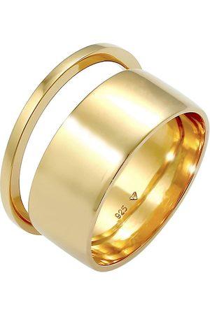 Elli Damen Ringe - Ring Bandring Stacking Breit Schmal 2er Set 925 Silber in , Schmuck für Damen