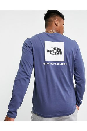 The North Face – Red Box – Langärmliges Shirt in Marineblau