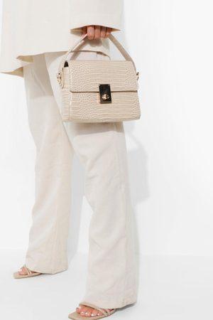 Boohoo Damen Clutches - Womens Kastige Clutch-Tasche Mit Henkel - - One Size