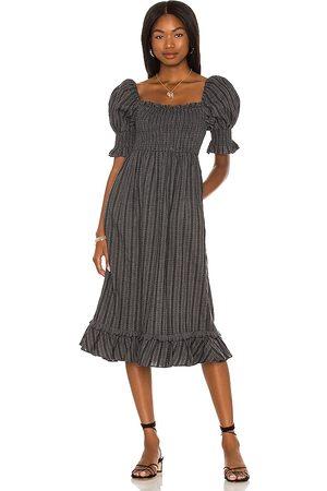 MAJORELLE Margret Midi Dress in . Size XXS, XS, S, M, XL.