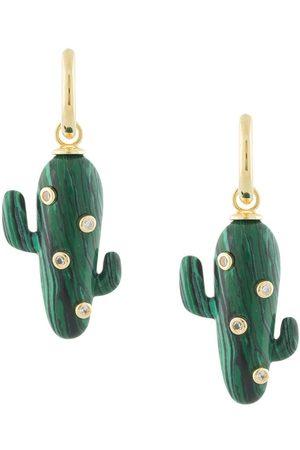 Eshvi Creolen mit Kaktus-Anhänger