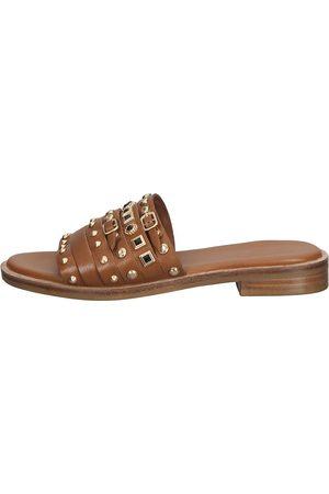 Bronx Damen Sandalen - Pantoletten in mittelbraun, Sandalen für Damen