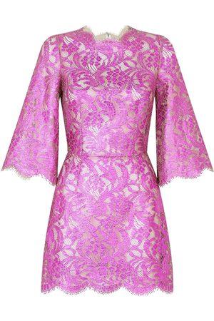 Dolce & Gabbana Minikleid aus floraler Spitze