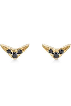 Lizzie Mandler 18kt Gelbgoldohrstecker mit Diamanten
