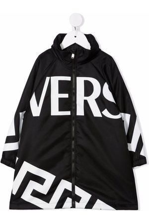 Versace Kids Parka mit Logo-Print
