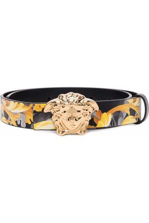 Versace Kids Jungen Gürtel - Medusa Head Baroccoflage-print leather belt