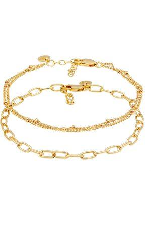 Elli Armband 2er Set Layer Kugelkette Basic Trend 925 Silber in , Schmuck für Damen