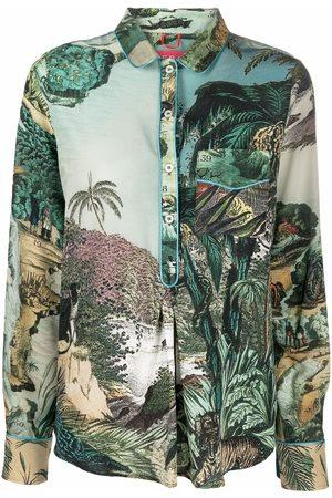 F.R.S For Restless Sleepers Damen Blusen - Seidenhemd mit grafischem Print