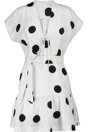 Rebecca Vallance Minikleid Bonita aus Leinen mit Polka-Dots
