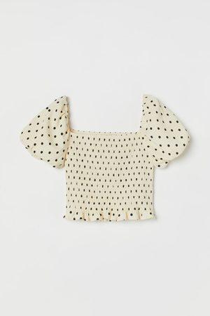 H&M Kurzshirt mit Puffärmeln