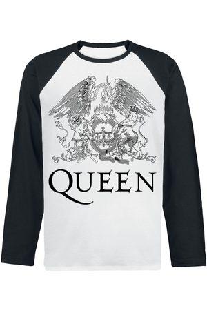 Queen Crest Vintage Langarmshirt weiß/