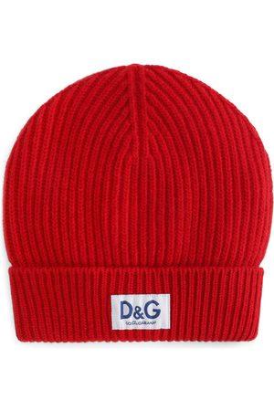 Dolce & Gabbana Herren Hüte - Gerippte Mütze mit Logo-Patch