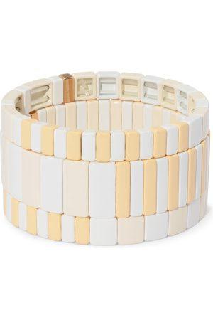 Roxanne Assoulin Damen Armbänder - Flat White Armband-Set