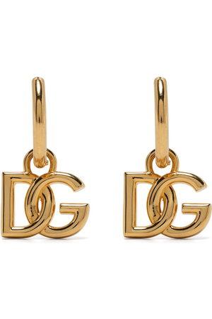 Dolce & Gabbana Creolen mit Logo-Schild