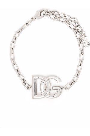 Dolce & Gabbana Herren Armbänder - Kettenarmband mit Logo-Schild