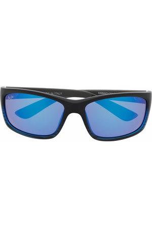 Maui Jim Blau getönte Sonnenbrille mit Logo-Gravur