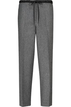Jil Sander High-Rise Hose aus einem Wollgemisch