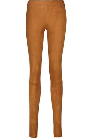 Stouls Leggings Carolyn aus Veloursleder